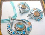 Find distributor of fine jewellery wholesale multi blue string mix color pastal jewelry set