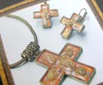 Tibetan jewelry China wholesaler supply bronze color tibetan cross jewelry seashell jewelry set