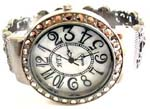 Old fashion in new age design China jewellery store wholesale white marble macasite stone bronze bangle watch