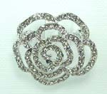 Exclusive China fashion jewelry online company wholesale clear cz rose figure pin
