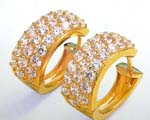World trader from China wholesale wide ring clear cz gold shrimp earring