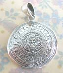 Buy wholeale product gift online supply circular mystic sterling silver pendant