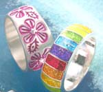 Puppy love Teen's fashion wholesaler China supply teen's thick band enamel ring and engraved ring
